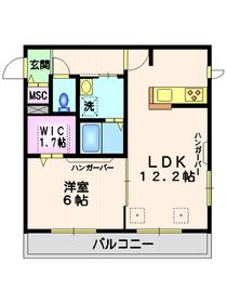 鵜の木駅 徒歩3分3階Fの間取り画像