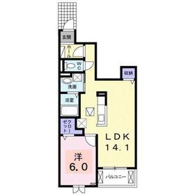 コンフォート・アライブA1階Fの間取り画像