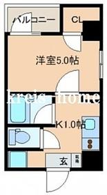 レジディア文京湯島II2階Fの間取り画像