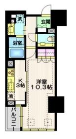宮益坂ビルディング ザ・渋谷レジデンス9階Fの間取り画像
