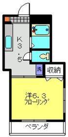 向河原駅 徒歩11分2階Fの間取り画像