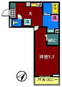 仮)Dーroom飯山満A棟2階Fの間取り画像