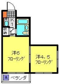 アビタシオンハイツ3階Fの間取り画像