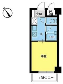 スカイコート新宿第83階Fの間取り画像