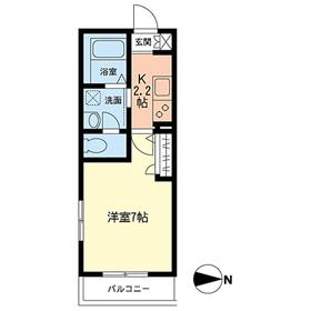 リラフォート2階Fの間取り画像