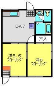エステートピア吉田1階Fの間取り画像