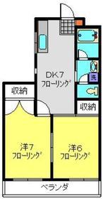 武蔵中原駅 徒歩7分2階Fの間取り画像