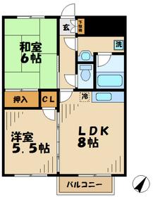 K'scourt ケーズコート4階Fの間取り画像