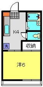 シェルコート飯倉参番館2階Fの間取り画像