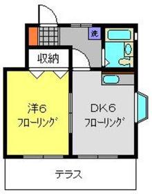 パークサイド1階Fの間取り画像