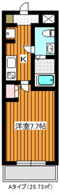 地下鉄赤塚駅 徒歩7分4階Fの間取り画像