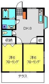 ヒルズS・K A1階Fの間取り画像
