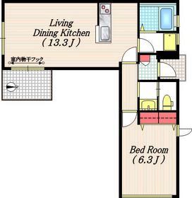 HOUSE T1階Fの間取り画像