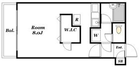 コルネット2階Fの間取り画像
