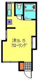 リバーサイド日吉B1階Fの間取り画像