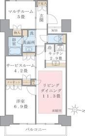 Brillia ist 東雲キャナルコート13階Fの間取り画像