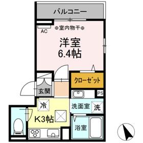 (仮)高松町3丁目レジデンスプロジェクト3階Fの間取り画像