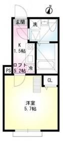 七島ハイム2階Fの間取り画像