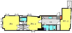 ミカローズ4階Fの間取り画像