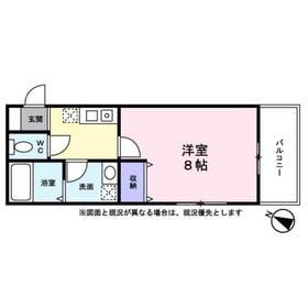 プレジール西横浜3階Fの間取り画像