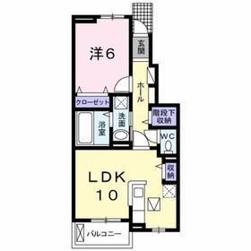 八王子駅 バス23分「楢原町」徒歩2分1階Fの間取り画像