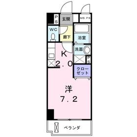 カーサ ヴェンティ4階Fの間取り画像