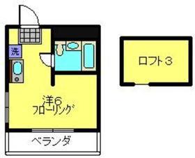 大倉山ハイツ3階Fの間取り画像
