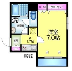 (仮称)浅草橋5丁目メゾン1階Fの間取り画像