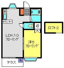 オーパス1二俣川1階Fの間取り画像