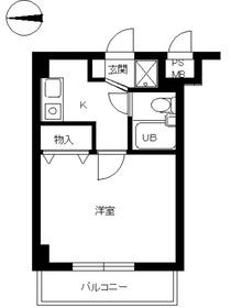 スカイコート武蔵関伊勢亀ビル3階Fの間取り画像