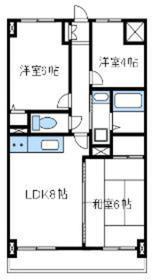 ラフィネ相武台Ⅰ4階Fの間取り画像