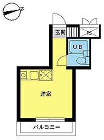 スカイコート八王子第34階Fの間取り画像