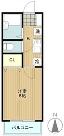 東林間駅 徒歩20分2階Fの間取り画像