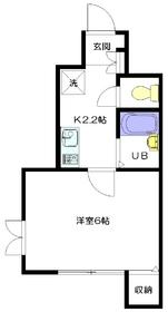 メゾンキムラ1階Fの間取り画像