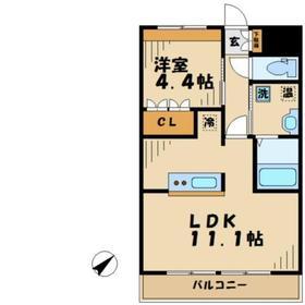 稲城駅 徒歩14分2階Fの間取り画像