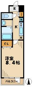 グリーンバレー唐木田4階Fの間取り画像