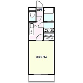 アムール上倉田2階Fの間取り画像