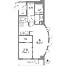 ガーラプレイス八幡山壱番館5階Fの間取り画像
