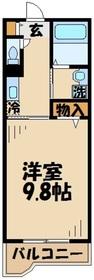 読売ランド前駅 徒歩15分3階Fの間取り画像