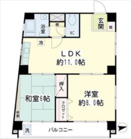 マルハチビル6階Fの間取り画像