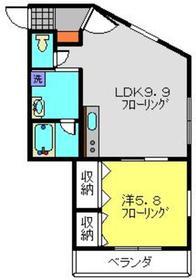 アルヴィータ2階Fの間取り画像