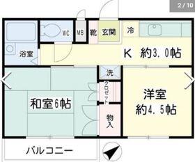 リビオ新田2階Fの間取り画像