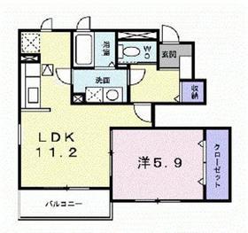 ビラ フィオーレ1階Fの間取り画像