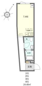 ヴェンティス ウエノサクラギ02階Fの間取り画像