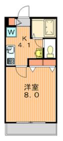 ウィステリア瀬田2階Fの間取り画像