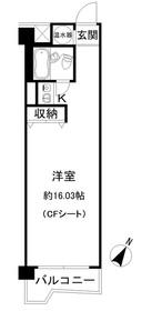 コープ野村六本木11階Fの間取り画像