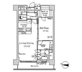 パークアクシス辰巳ステージ13階Fの間取り画像