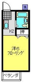 天王町駅 徒歩16分2階Fの間取り画像