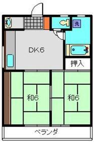 村中ビル3階Fの間取り画像