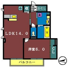 リッチモッチ1階Fの間取り画像